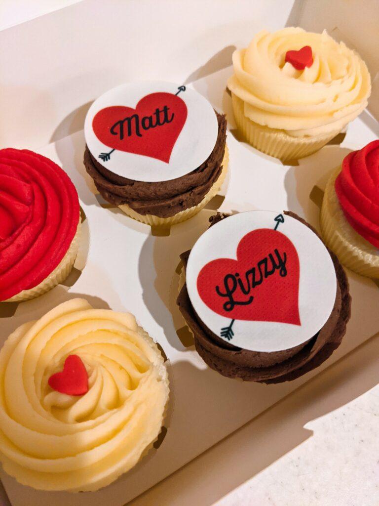 Personalised Valentines Cupcakes
